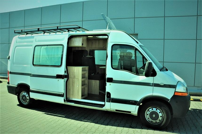Zabudowa na aucie Renault Master – rozmiar L3H2